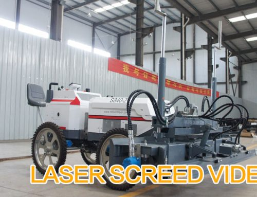 S840-2 Laser Screed Machine Video