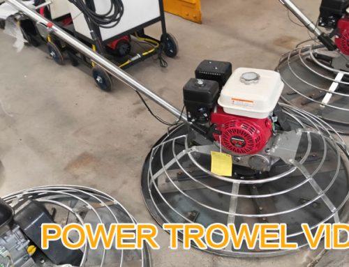 Power Trowel Video