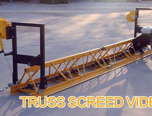 Concrete Truss Screed Machine Video