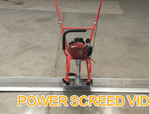 Concrete Power Screed Video