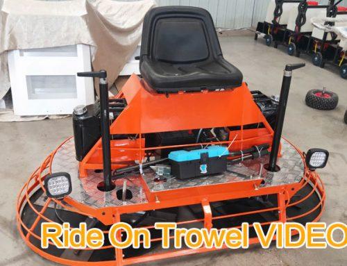 Ride On Power Trowel Video