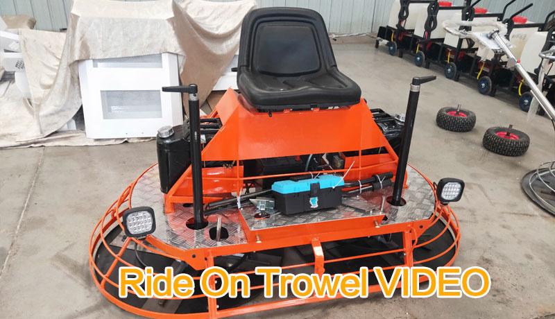 ride on trowel